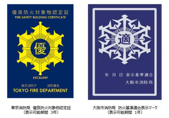 各自治体の防火基準適合マーク